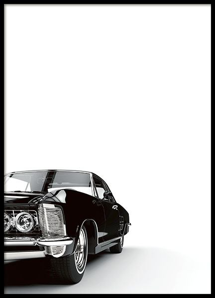 Poster with a car, stylish prints for the home