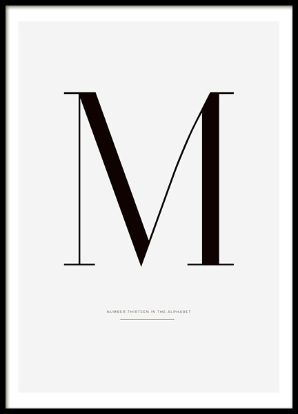 Stylish typography poster and prints online
