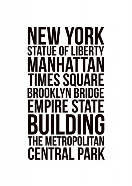 New York City, Poster in the group Posters & Prints / Maps & cities at Desenio AB (7933)