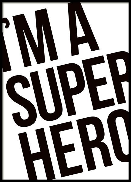 Superhero, Posters