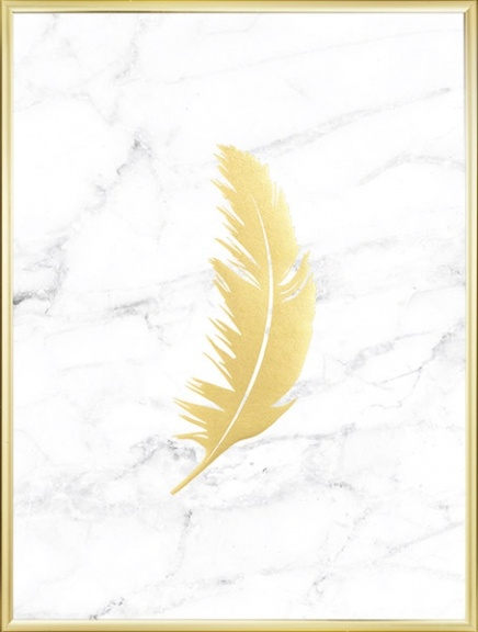Feather Gold Marble, Poster in the group Posters & Prints / Gold & silver at Desenio AB (7961)