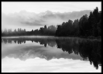 Print with nature picture, prints with black and white photos