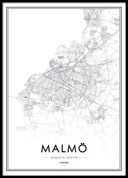Malmö, Poster in the group Posters & Prints / Black & white at Desenio AB (8127)