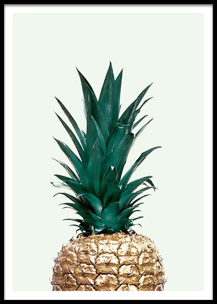 Green Pineapple, Poster in the group Posters & Prints / Art prints at Desenio AB (8210)