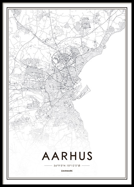 Aarhus, Poster in the group Posters & Prints / Text posters at Desenio AB (8270)