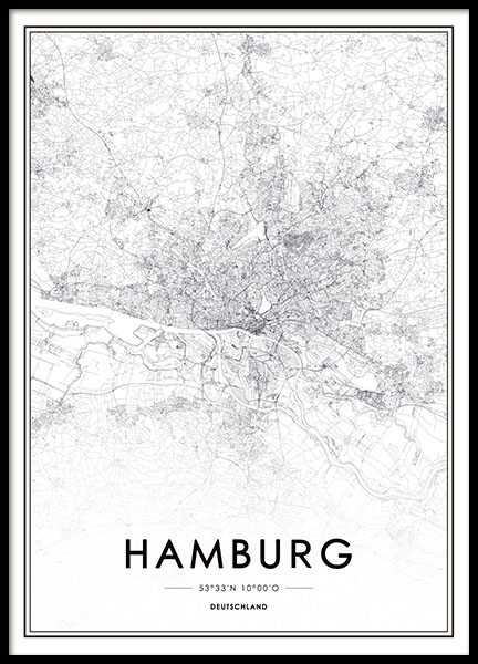Hamburg, Poster in the group Posters & Prints / Maps & cities at Desenio AB (8277)