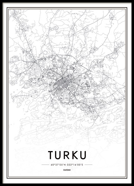 Turku, Poster in the group Posters & Prints / Maps & cities at Desenio AB (8282)