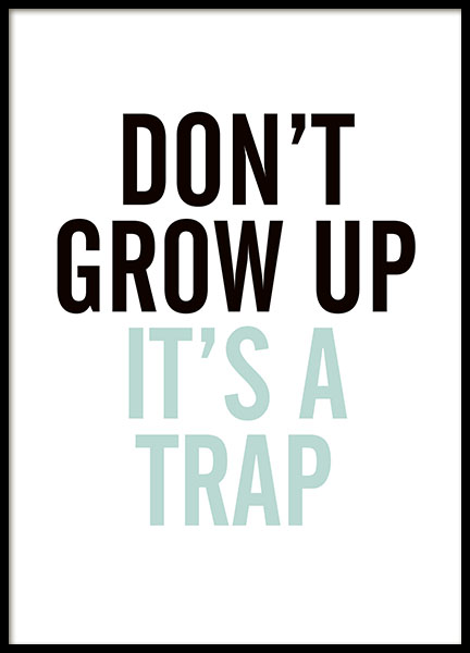 Grow Up, Blue, Poster in the group Posters & Prints / Kids posters at Desenio AB (8292)
