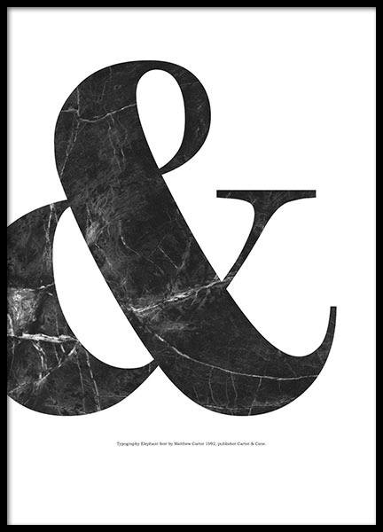 & Black Marble, Poster in the group Posters & Prints / Typography & quotes at Desenio AB (8330)