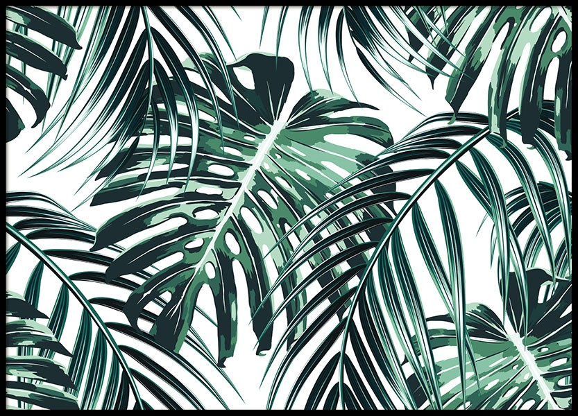Tropical Leaves, Poster in the group Posters & Prints / Botanical at Desenio AB (8385)