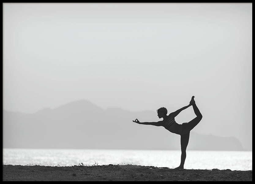 Yoga By The Water, Poster in the group Posters & Prints / Black & white at Desenio AB (8408)