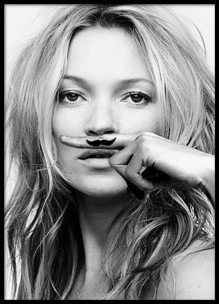 Kate Moss, Life Is A Joke, Print in the group Posters & Prints / Black & white at Desenio AB (8422)