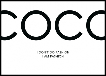 I Am Fashion, Poster in the group Posters & Prints / Text posters at Desenio AB (8432)
