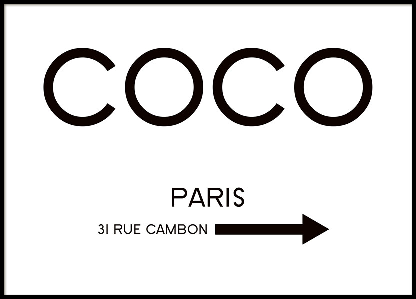 Rue Cambon, Poster in the group Posters & Prints / Typography & quotes at Desenio AB (8434)
