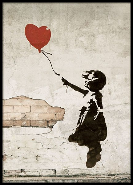 Girl With Love Balloon, Poster in the group Posters & Prints / Art prints at Desenio AB (8448)