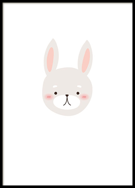 Little Bunny, Poster in the group Posters & Prints / Kids posters at Desenio AB (8469)