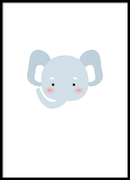 Little Elephant, Poster in the group Posters & Prints / Kids posters at Desenio AB (8472)