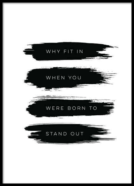 Born To Stand Out, Poster