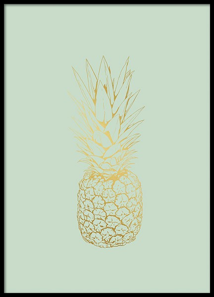 Pastel Pineapple, Poster in the group Posters & Prints / Kitchen at Desenio AB (8531)