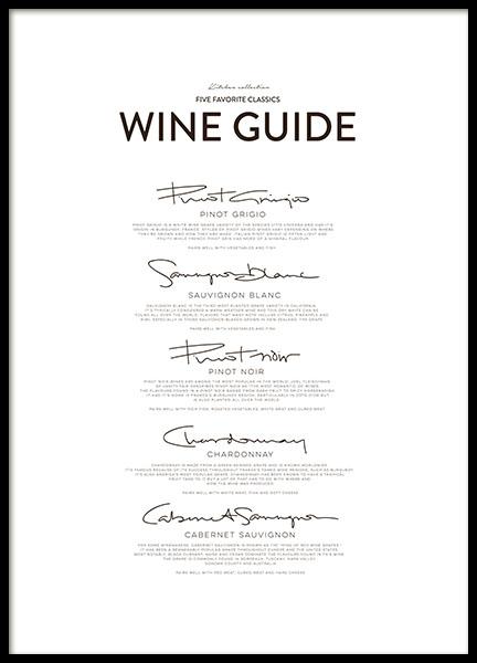 Five Wine Classics, Posters