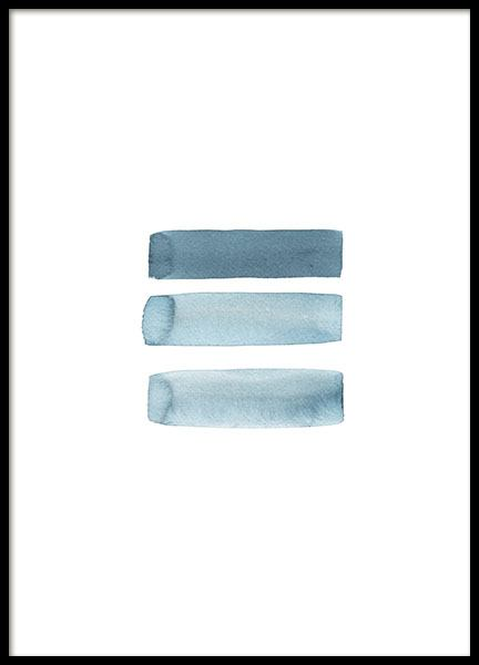 Grey Blue Aquarelle Poster in the group Posters & Prints / Art prints at Desenio AB (8665)