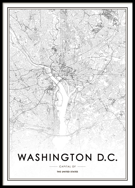 Washington D.C. Poster in the group Posters & Prints / Maps & cities at Desenio AB (8726)