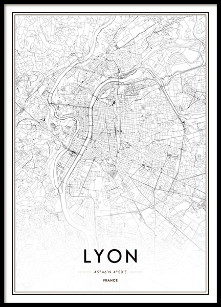 Lyon Poster in the group Posters & Prints / Maps & cities at Desenio AB (8727)