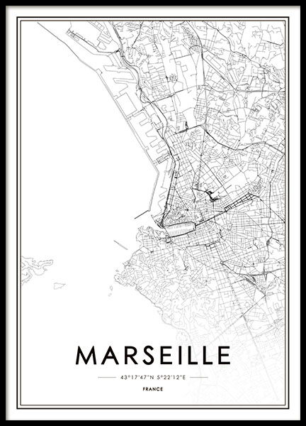 Marseille Poster in the group Posters & Prints / Black & white at Desenio AB (8728)