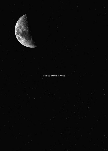 I Need More Space Poster in the group Posters & Prints / Black & white at Desenio AB (8752)