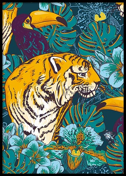 Tiger In Paradise Poster