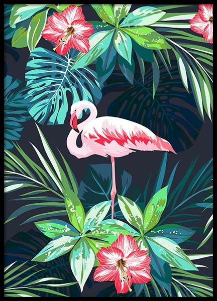 Flamingo In Paradise Poster in the group Posters & Prints / Art prints at Desenio AB (8779)
