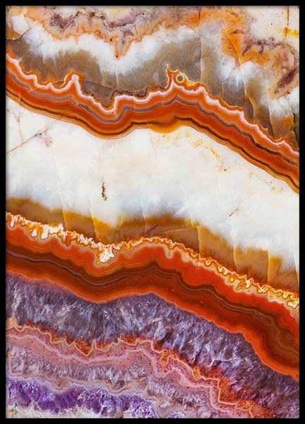 Agate Layers Poster in the group Posters & Prints / Photography at Desenio AB (8783)