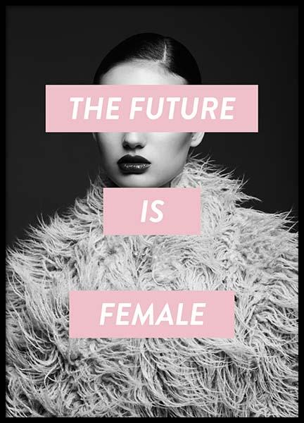 Future Is Female Poster in the group Posters & Prints / Fashion at Desenio AB (8834)