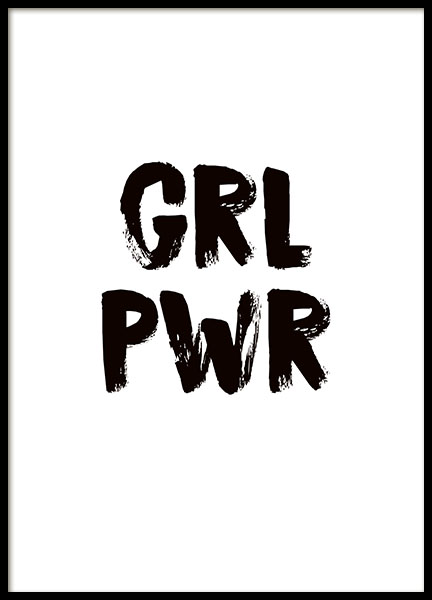 girl power poster. Black Bedroom Furniture Sets. Home Design Ideas