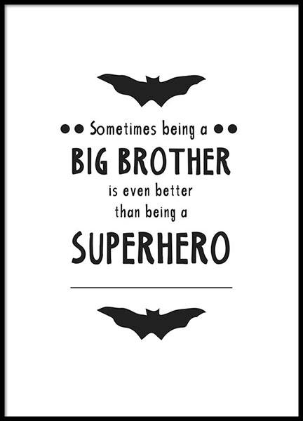 Big Brother Poster in the group Posters & Prints / Kids posters at Desenio AB (8872)