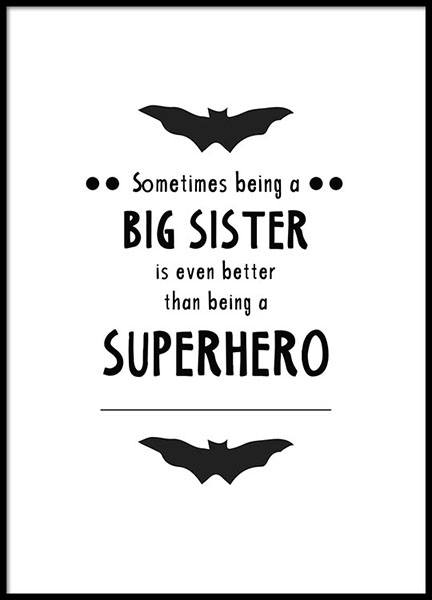 Big sister Poster in the group Posters & Prints / Sizes / 30x40cm | 11,8x15,7 at Desenio AB (8873)