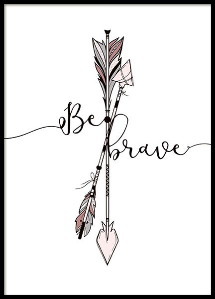 Brave Arrows Poster in the group Posters & Prints / Kids posters at Desenio AB (8877)