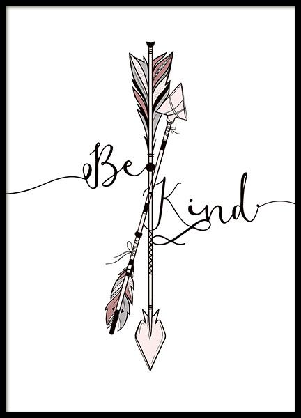 Kind Arrows Poster in the group Posters & Prints / Kids posters at Desenio AB (8878)