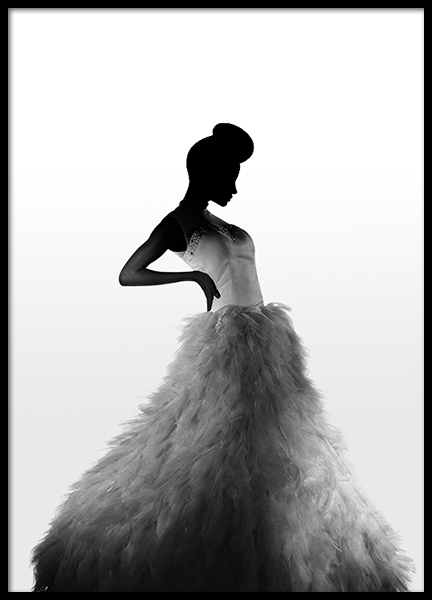 Evening Dress Poster in the group Posters & Prints / Black & white at Desenio AB (8882)
