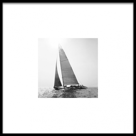 Sailboat Poster in the group Posters & Prints / Black & white at Desenio AB (8909)