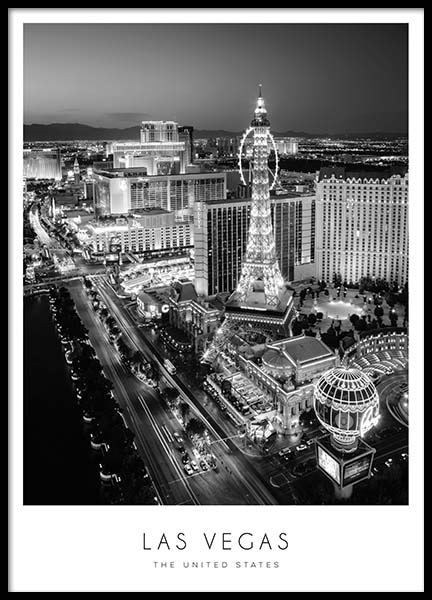 Las Vegas Poster in the group Posters & Prints / Black & white at Desenio AB (8922)