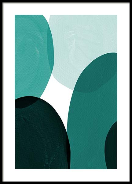 Green Shapes Poster in the group Posters & Prints / Art prints at Desenio AB (8996)