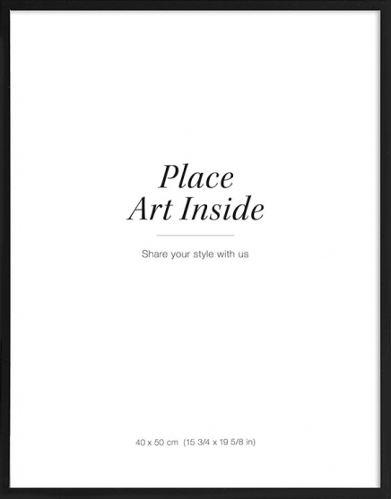 Black picture frame, 40x50 in the group Picture frames / Black frames at Desenio AB (AASP50103)