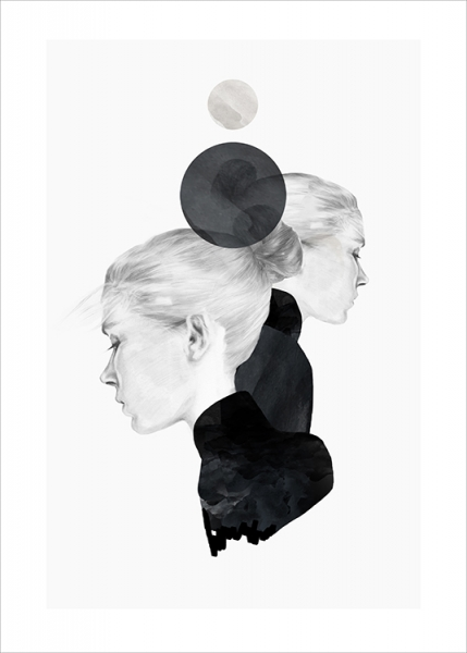 Anna Bülow Black Marble Poster in the group Posters & Prints / Illustrations at Desenio AB (Pre040)