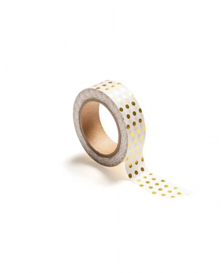 Washi tape, polka dot gold in the group Accessories / Washi tape at Desenio AB (TAPE100173)