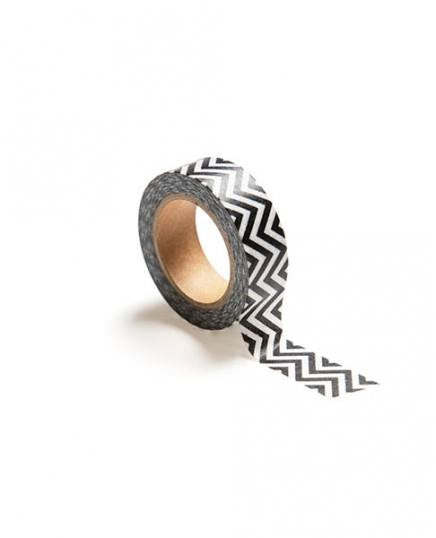 washi tape, white/black zigzag / Washi tape at Desenio AB (TAPE100496)