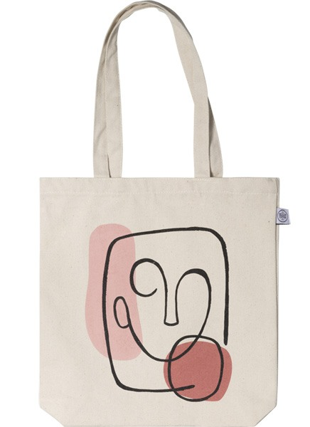 Abstract Face Tote Bag in the group Limited edition at Desenio AB (TOTE50145)