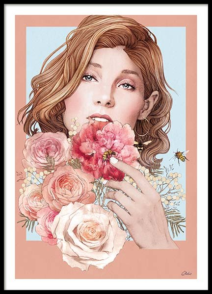 Bouquet Poster in the group Posters & Prints / Illustrations at Desenio AB (co0007)