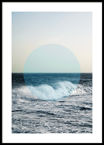 Circle of Ocean Poster in the group Posters & Prints / Photography at Desenio AB (co0047)