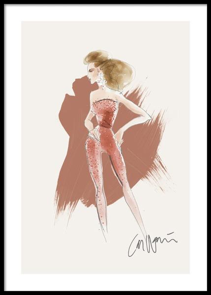 Celine Signed Poster
